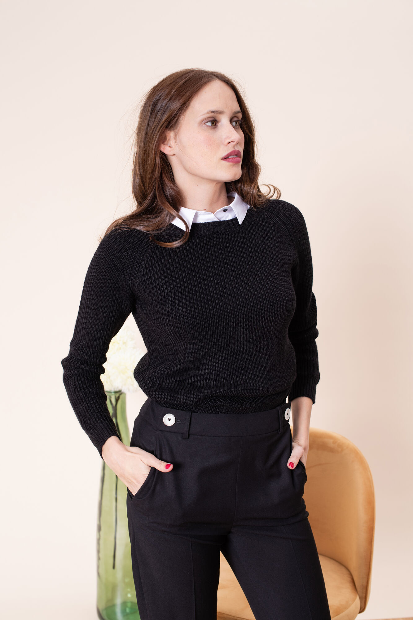 Zwarte Trui Dames.Trui En Vest Charlene Zwarte Trui En Vest Voor Dames Voor 90 00