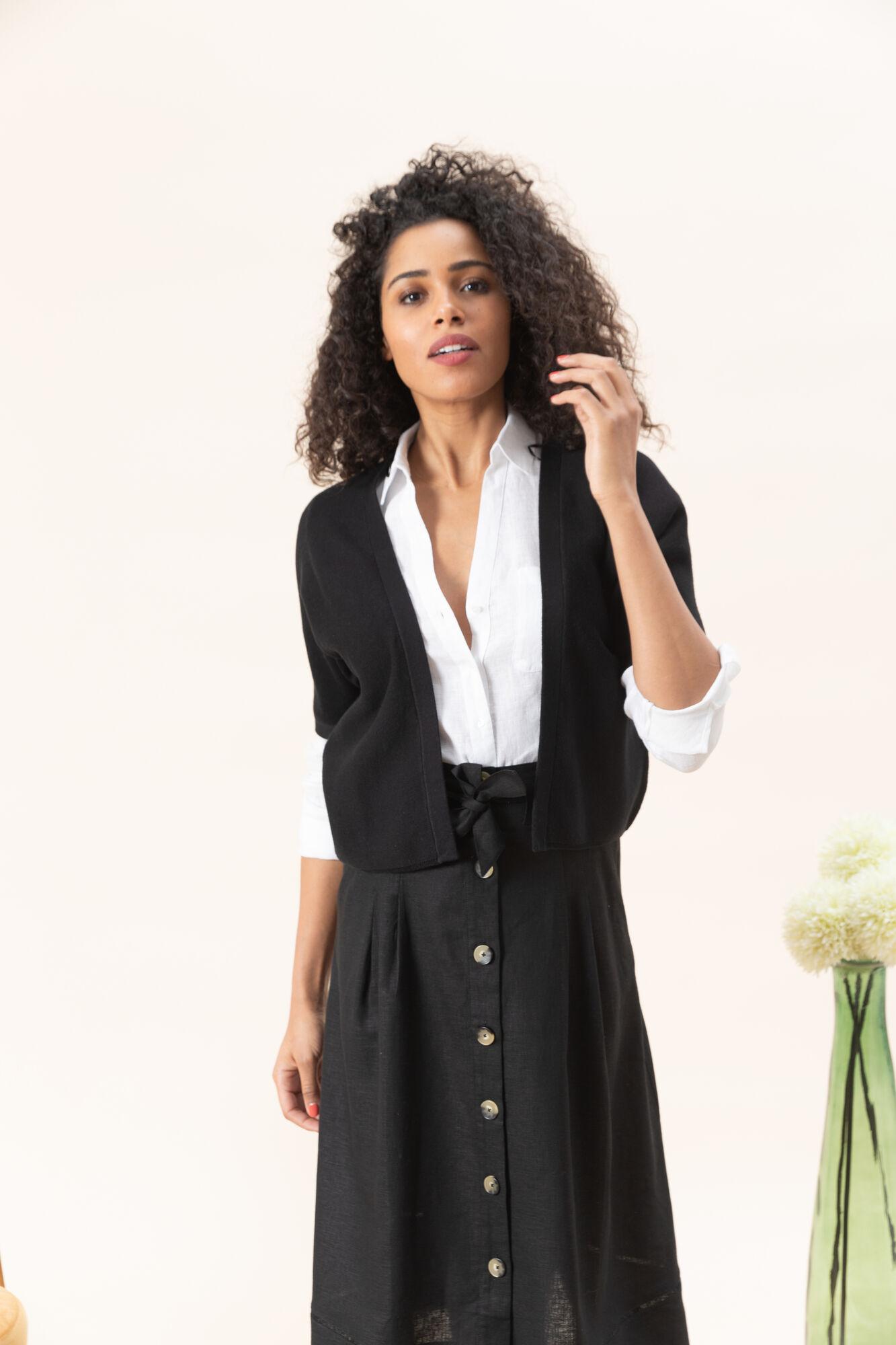 Zwarte Trui Dames.Trui En Vest Lucille Zwarte Trui En Vest Voor Dames Voor 70 00