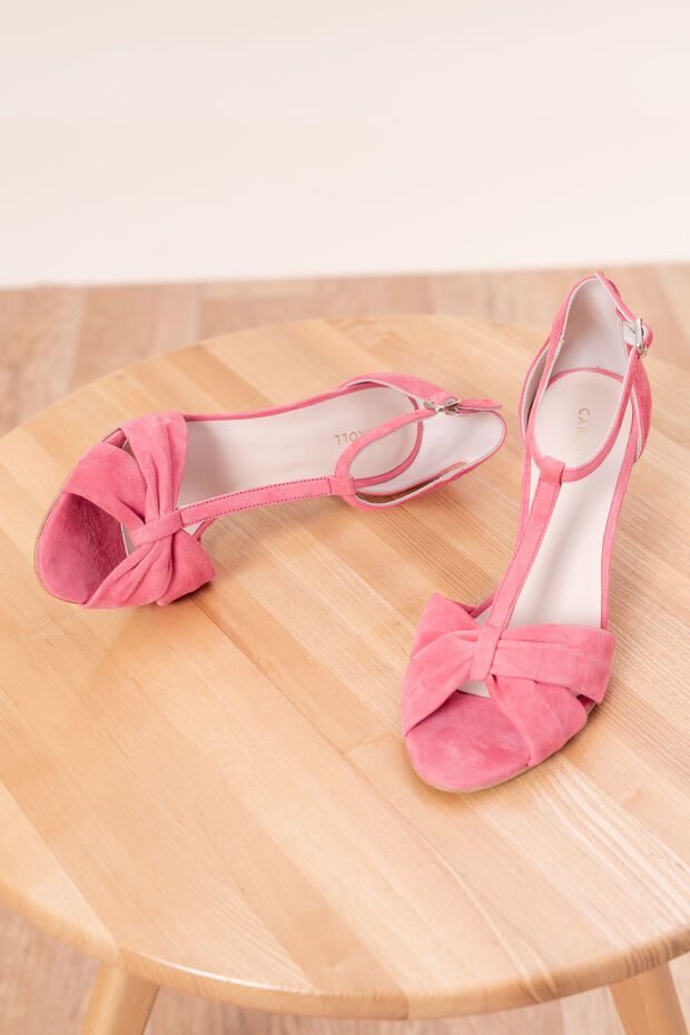 Sandales à talons en cuir Zelie