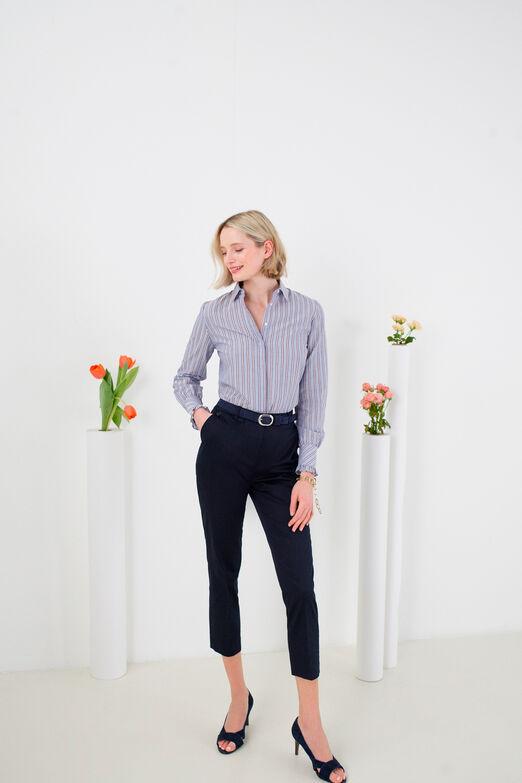 Jolie petite chose Pour Femme Jambe Large Pantalon Ceinture en bleu pastel-Neuf