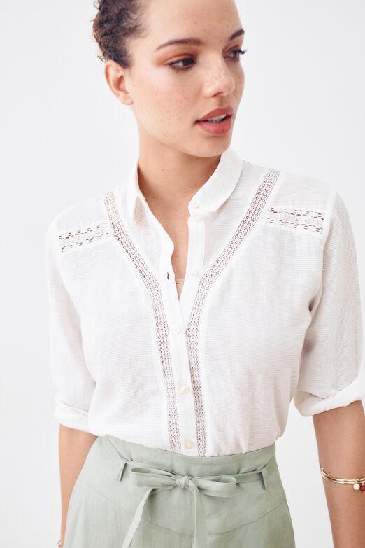 Chemisier Avec Motif Feuilles ARTICLES-Nº b342148 femmes Chemisier shirt NOUVEAU