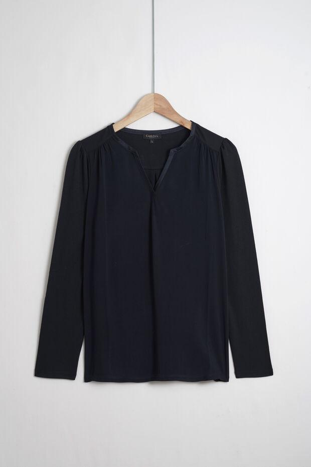 t-shirt bi-matiere tod - Caroll