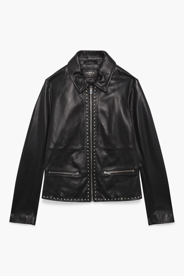 cccc44891615 Veste en cuir Anna   Veste femme Noir en à 330.00 €