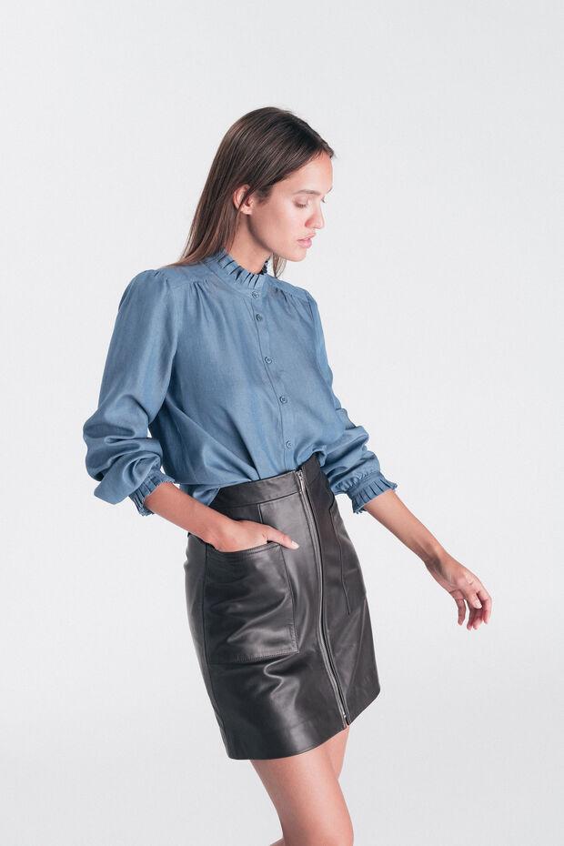Falda de cuero Bergue