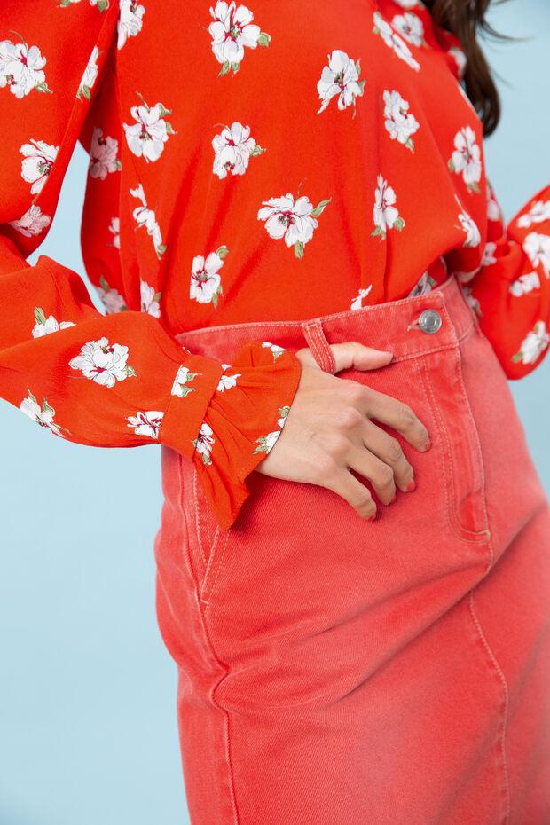 Rok Van jeans Cherry