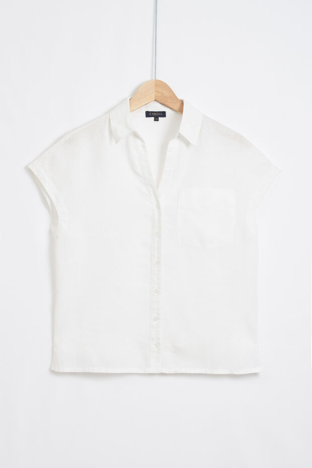 chemise fleur 100% lin - Caroll