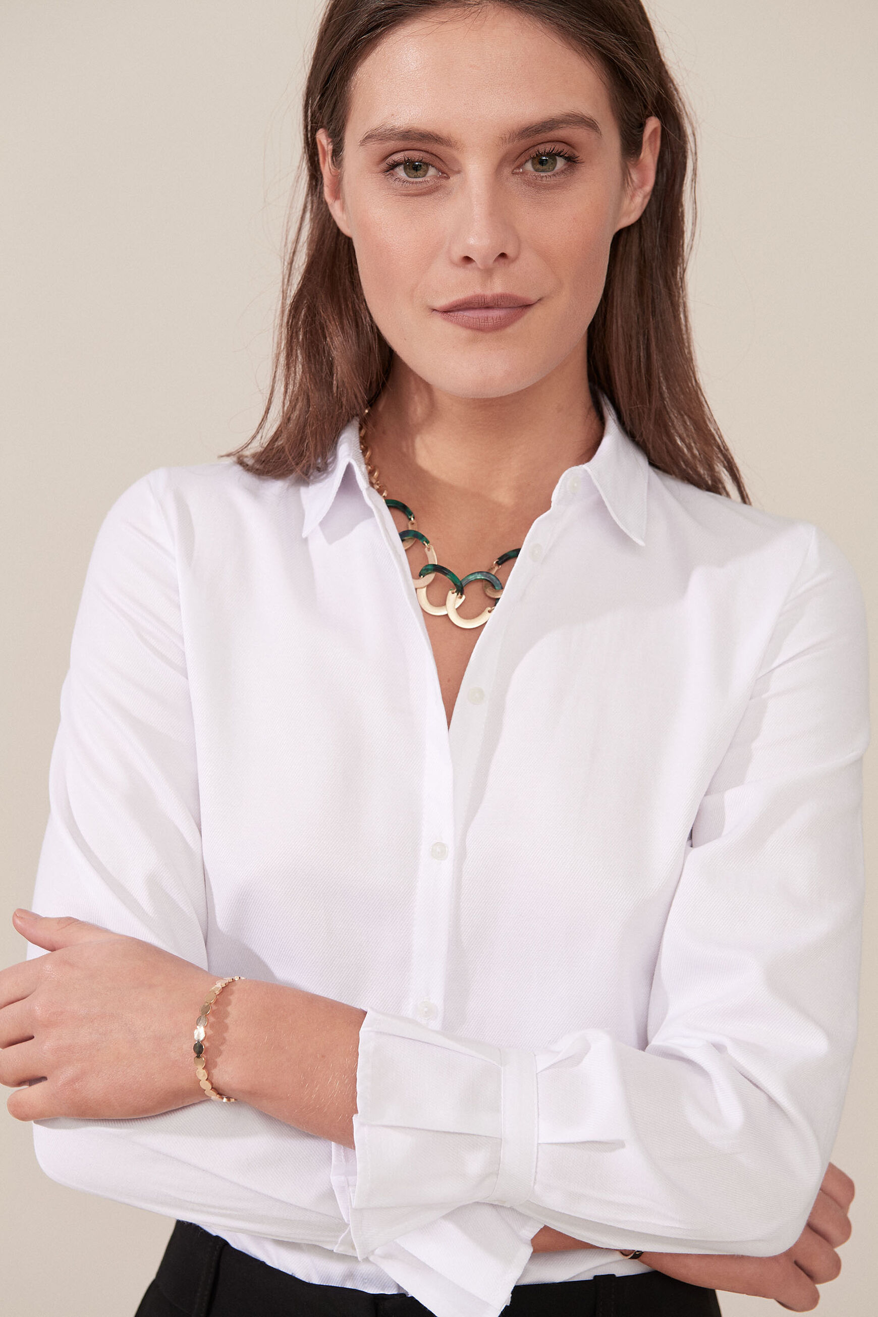 Chemise Coralie : Chemise femme Blanc en