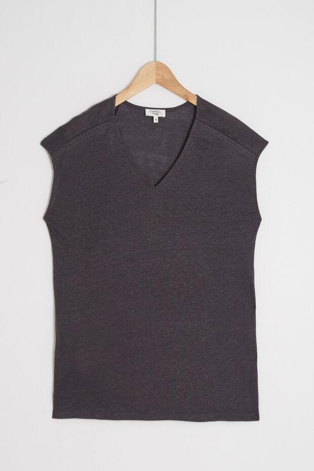 t-shirt lupita 100% lin - Caroll