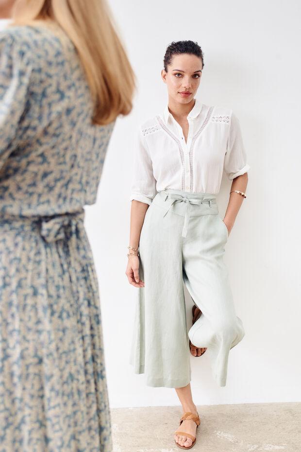 Pantaloni Sari 100% lino - Caroll