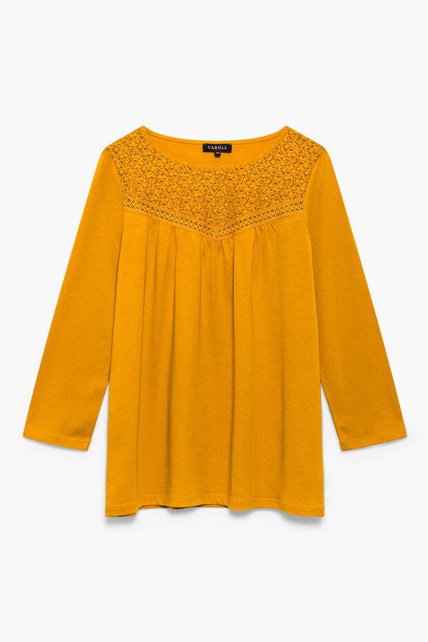 9ddff3c62d021 T-shirt Violaine   Haut   t-shirt femme Moutarde en à 55.00 €