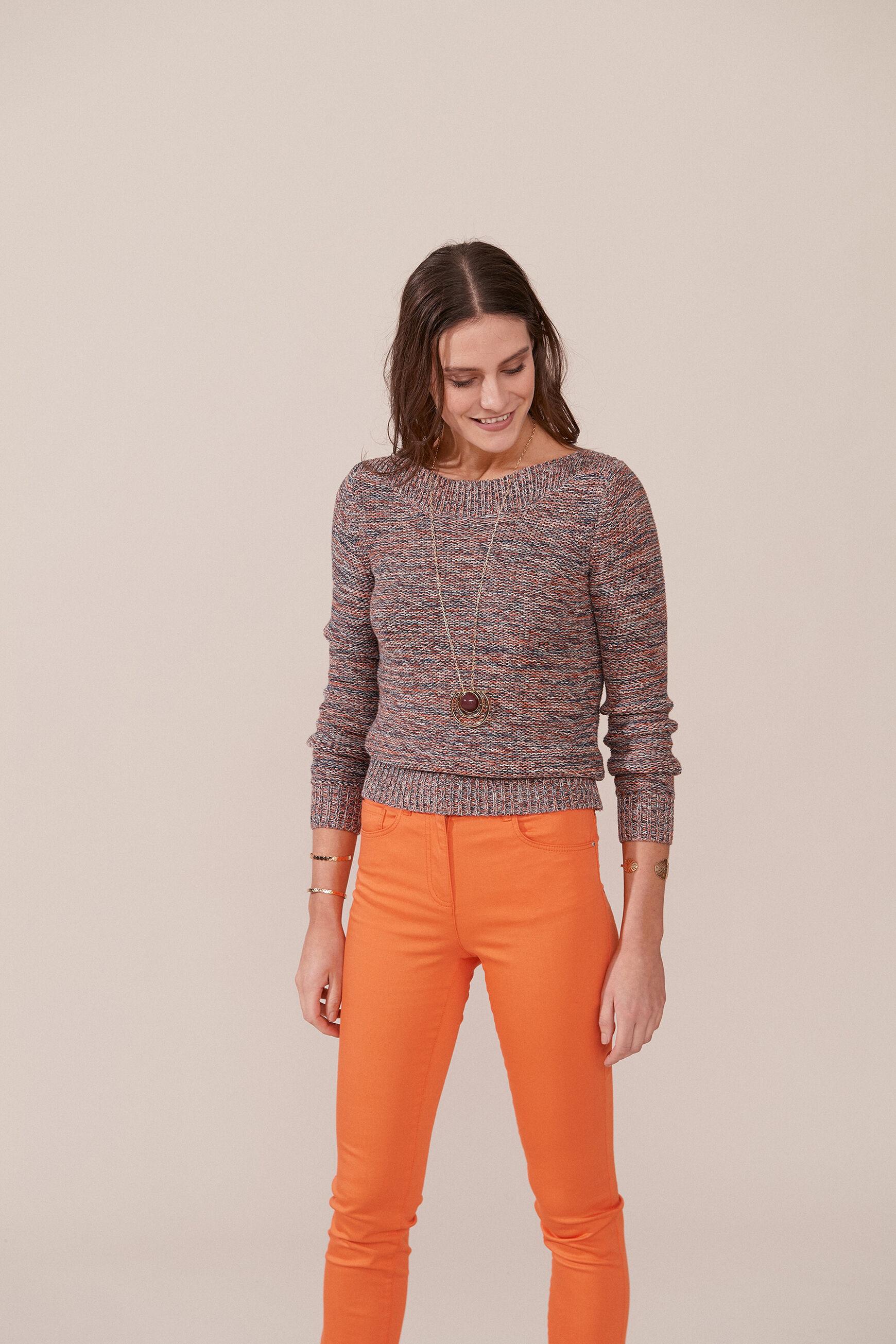 Pull Geraldine : Pull femme Bronze en Coton