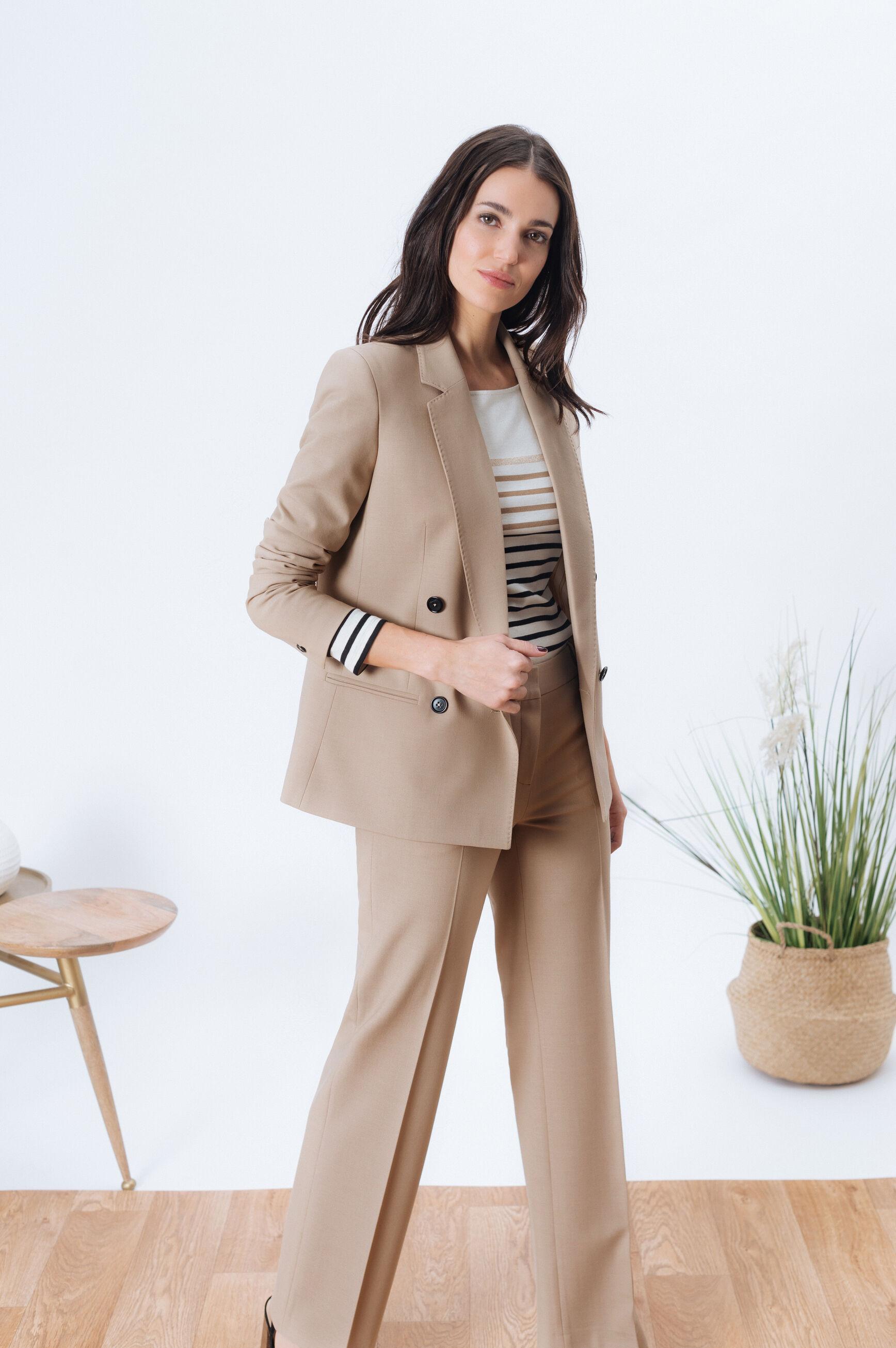 tailleur pantalon marron femme
