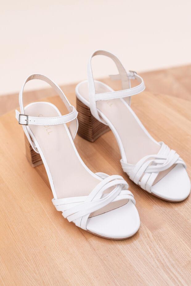 Sandales à talons en cuir Magda
