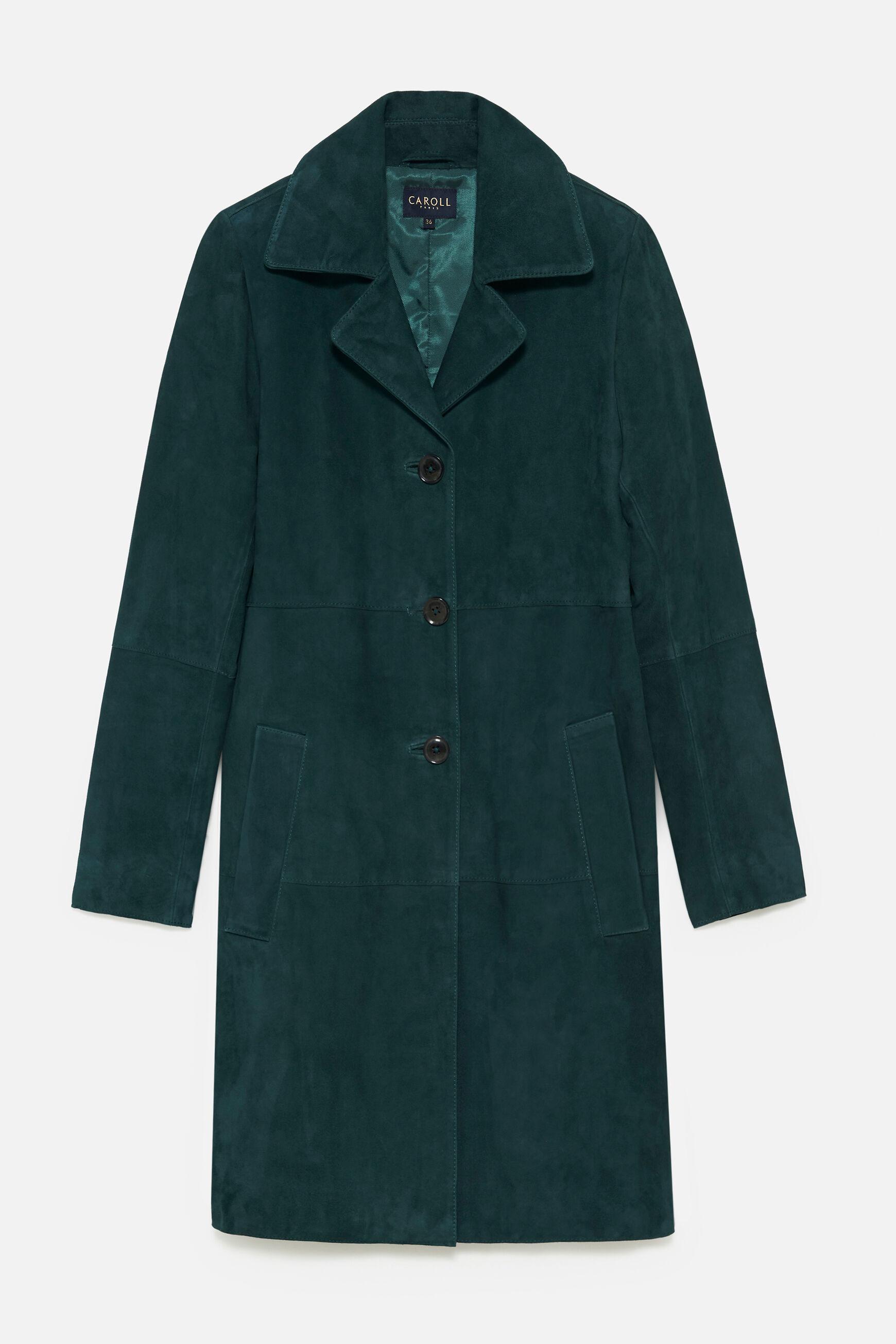 manteau en daim femme caroll