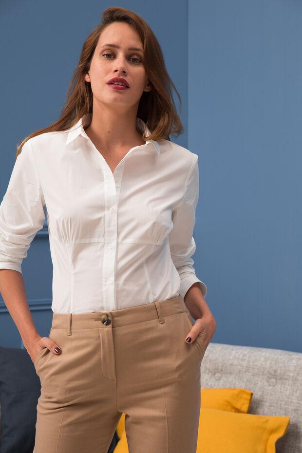 Chemise Kristen   Chemise femme Blanc d éclat en Coton à 50.00 € 8c2236bd5ef