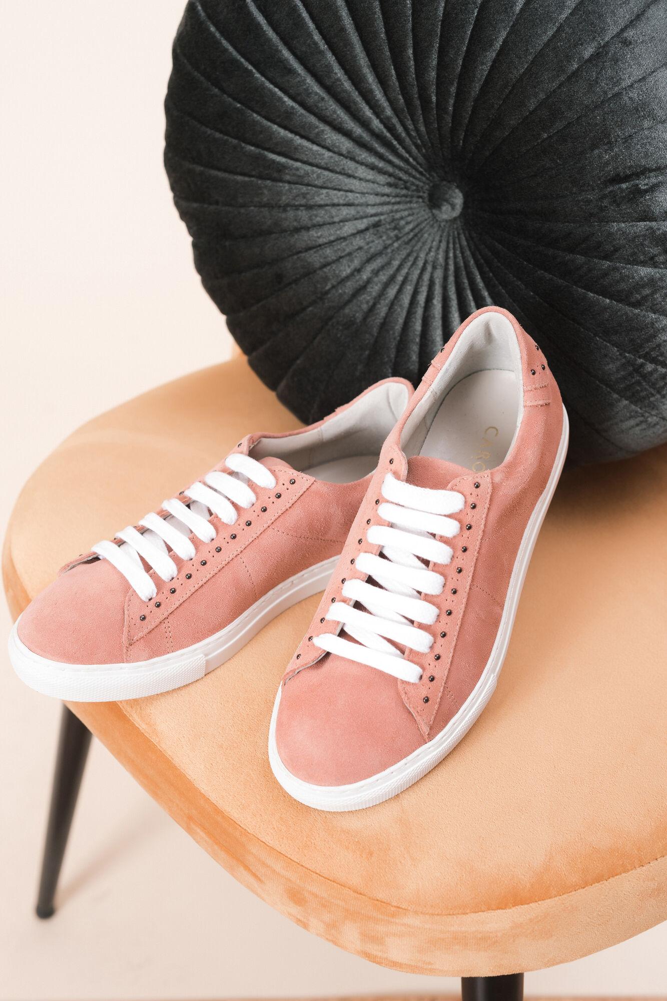 c83f8ea605c Baskets en cuir Vadima   Chaussure femme Corail en Peaux   Cuir à ...