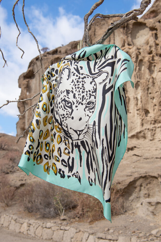 Foulard in seta Tiger