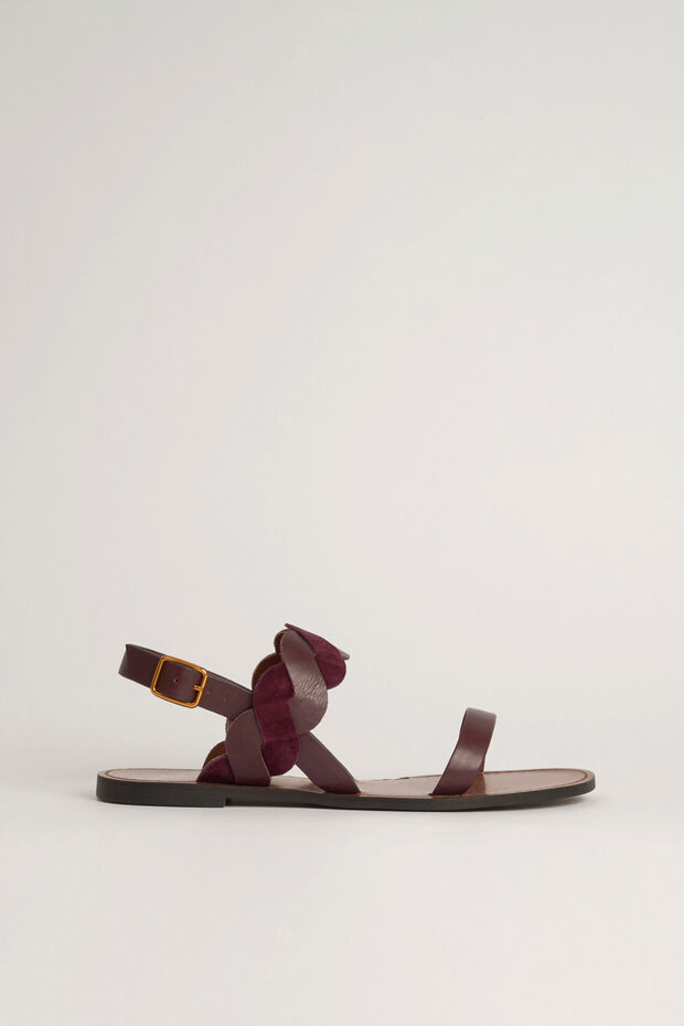 100% leren sandaal Samia - Caroll