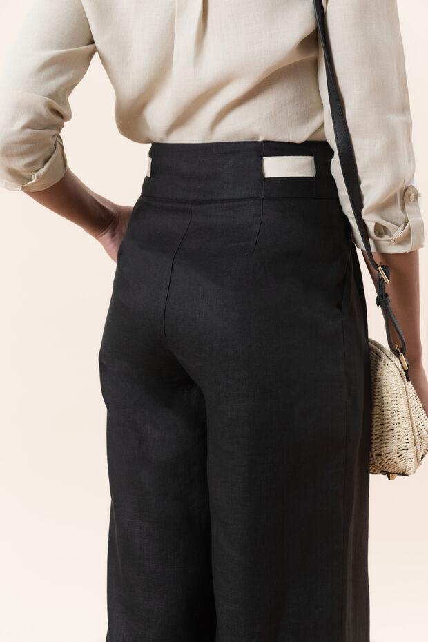 Pantalon en lin Calypso