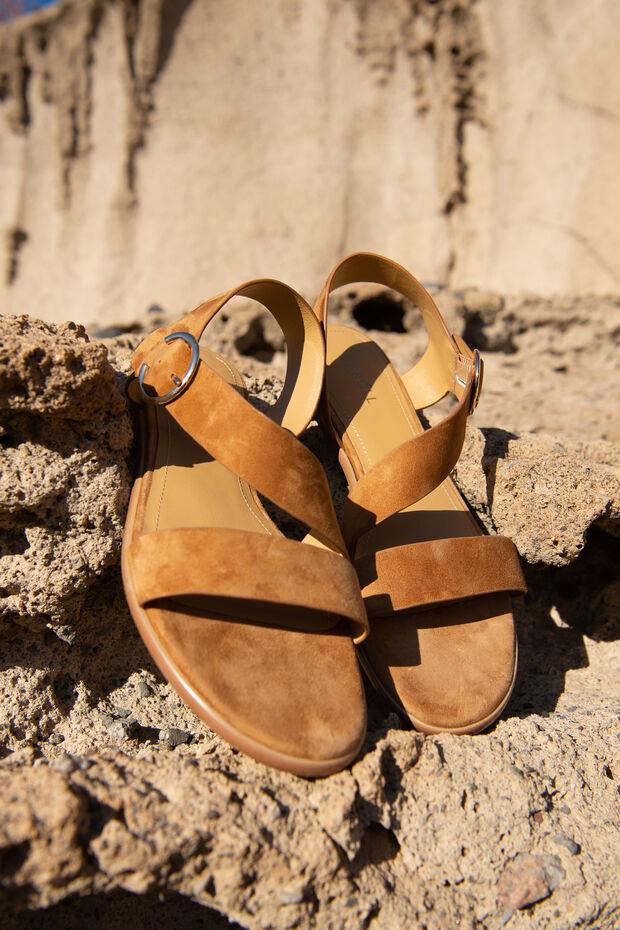 Sandália em couro Louna