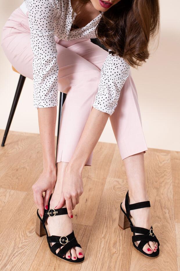 Sandales à talons en cuir Emilia