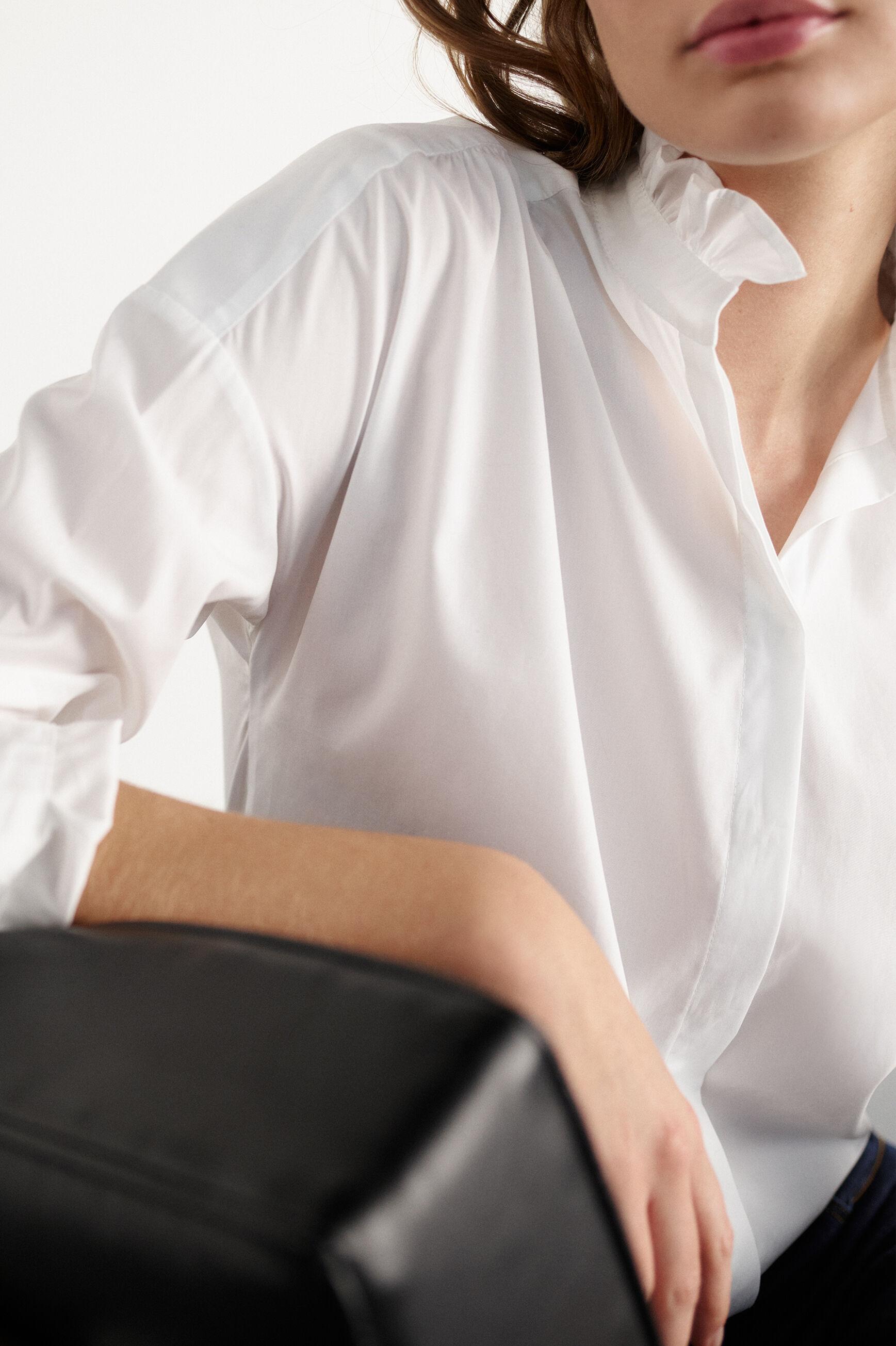Chemise Sicile : Chemise femme Blanc en Coton