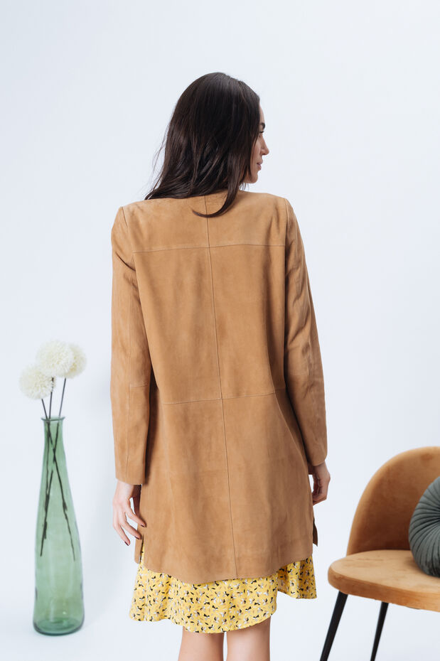 Manteau en daim Santorin
