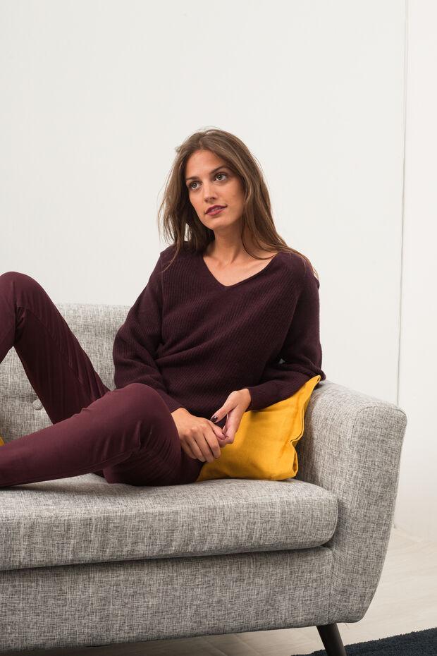 Pantalon Neil   Pantalon femme Bordeaux en à 85.00 € a35259193f0