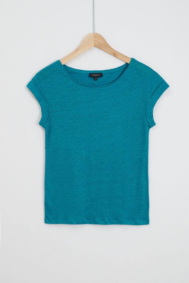 t-shirt manue 100% lin - Caroll