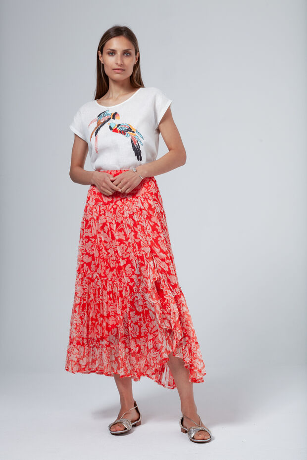 T-shirt en lin Omara