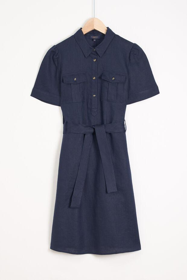 robe lea 100% lin - Caroll