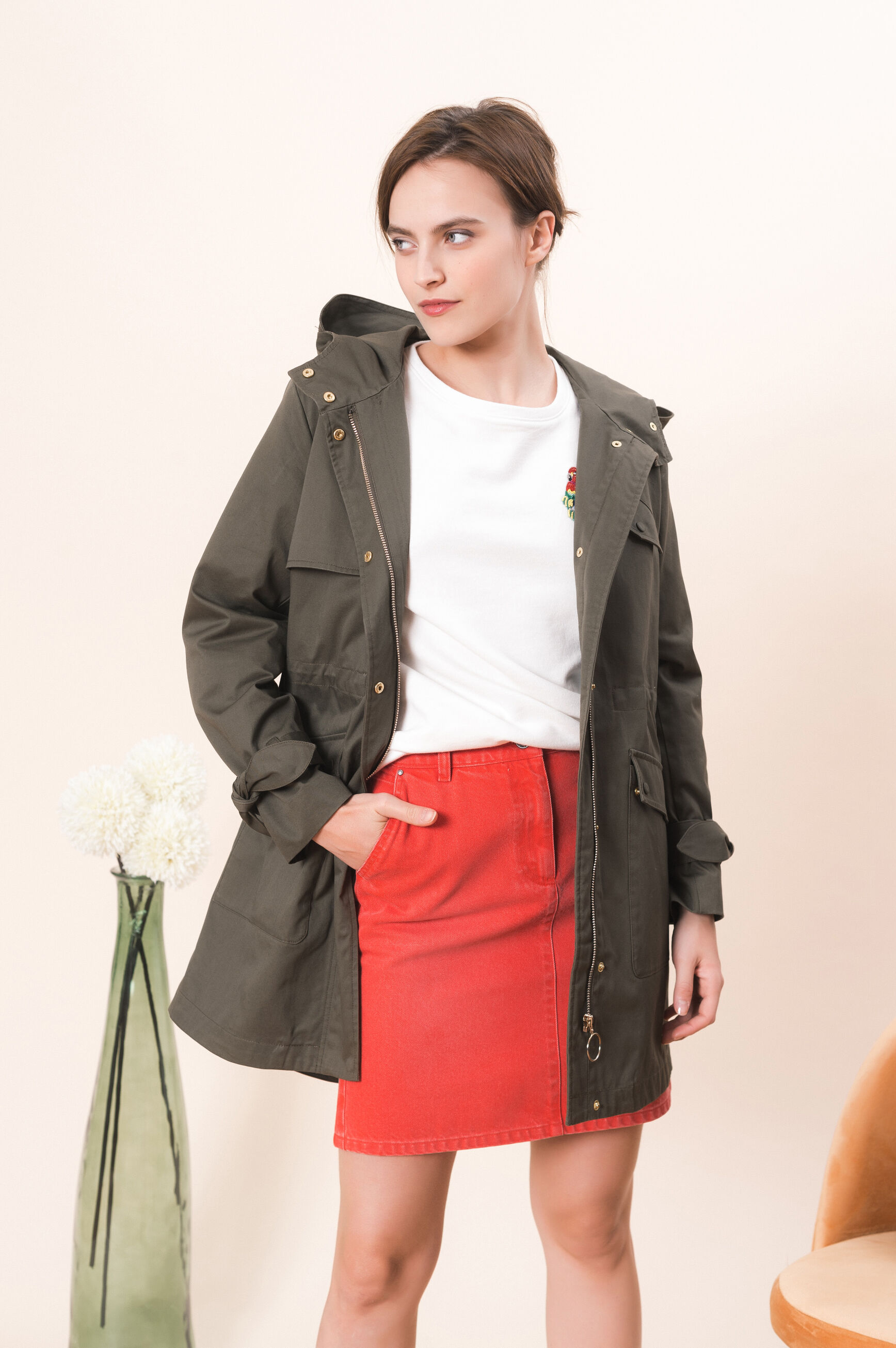 elegante plumas de y Coat Womantu chaqueta eleganteCaroll KJl1Fc