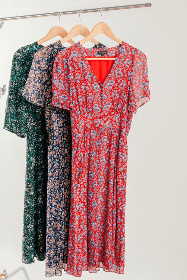 vestido camilia carmin - Caroll