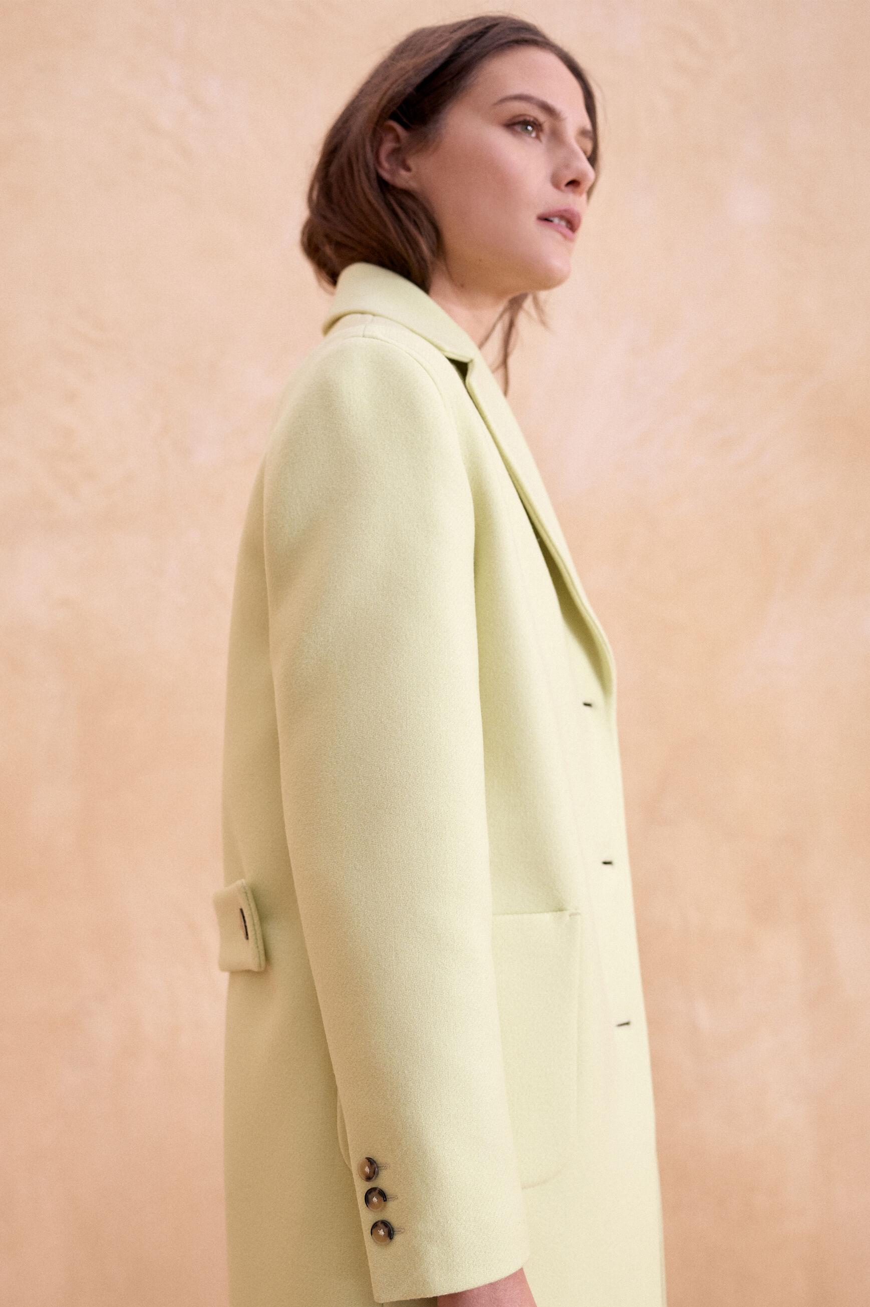 Manteau Marcel : Manteau femme Gris moyen en Laine   CAROLL