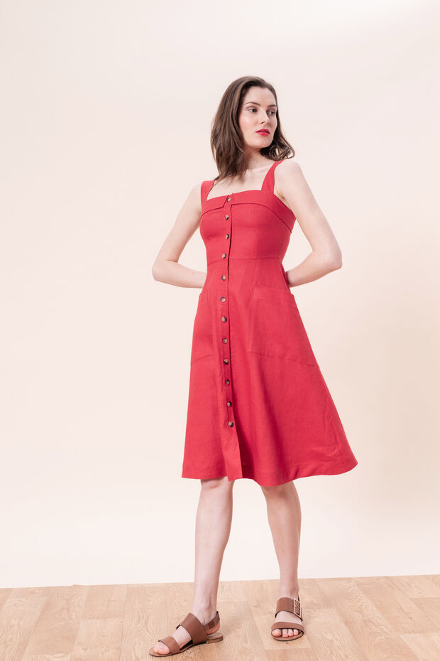 Linnen jurk Yannick