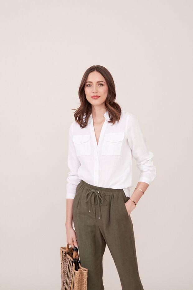 Camicia in lino Tamaris